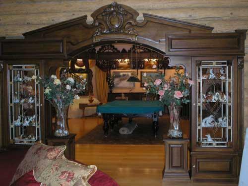 Отделка деревянного дома. Дизайн арки