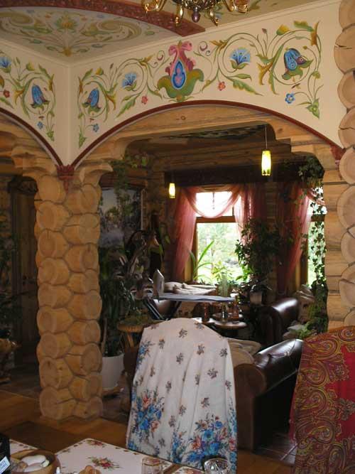Отделка деревянного дома. Обрамление арки