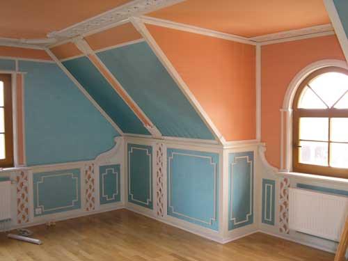 Отделка деревянного дома. Потолок из гипсокартона