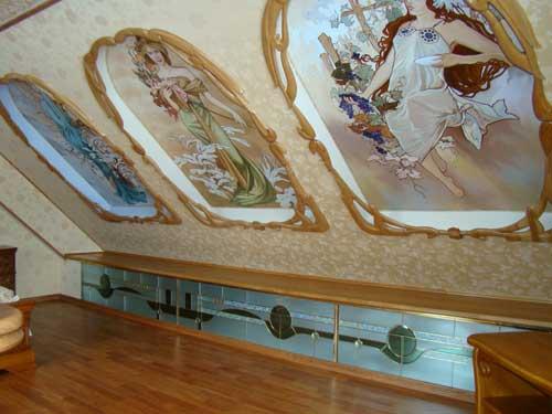 Отделка деревянного дома. Потолок
