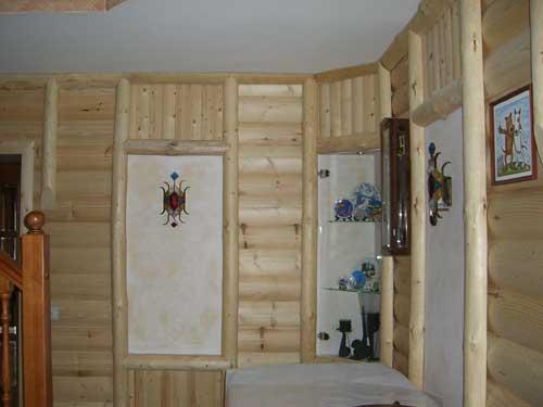 Отделка деревянного дома. Блокхаус