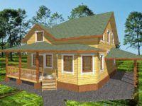 Дом из профилированного бруса ПБ-14