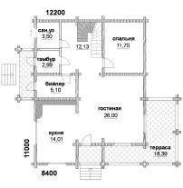 Дом из профилированного бруса ПБ-70