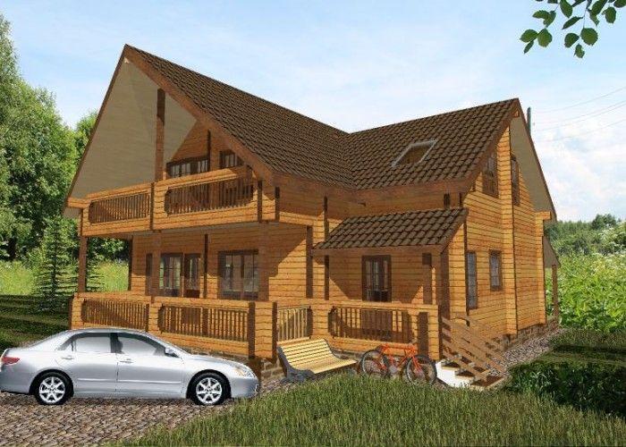 Дом из профилированного бруса ПБ-24