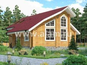 Дом из оцилиндрованного бревна ОБ-13
