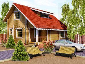 Дом из оцилиндрованного бревна ОБ-65