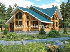 Дом из оцилиндрованного бревна ОБ-31