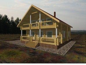 Дом из профилированного бруса ПБ-5
