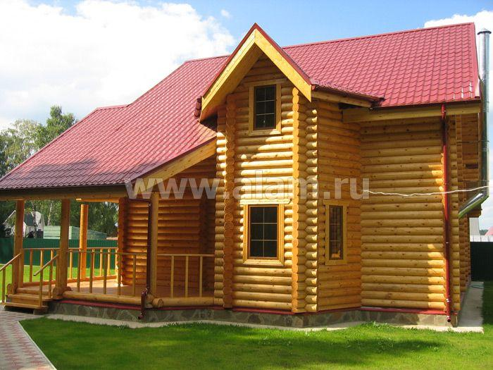 проект красивого дома из оцилиндрованного бревна 1