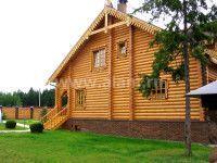 Дом из оцилиндрованного бревна ОБ-6