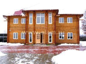 Презентабельный дом из оцилиндрованного бревна. Проект ОБ-49