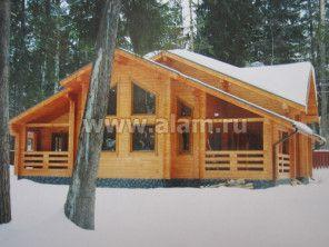 Строительство деревянного дома из бруса по проекту ПБ-16