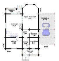 Дом из профилированного бруса ПБ-52