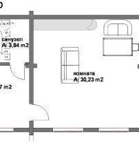 Дом из профилированного бруса ПБ-50