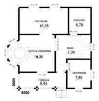 Дом из профилированного бруса ПБ-51