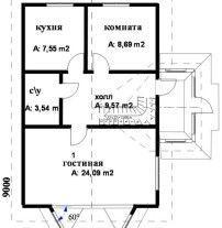 Дом из профилированного бруса ПБ-65