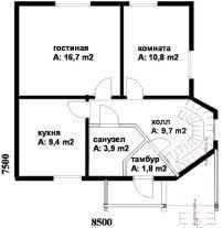 Дом из профилированного бруса ПБ-13