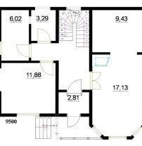 Дом из профилированного бруса ПБ-45
