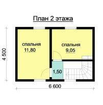 Дом из профилированного бруса ПБ-26