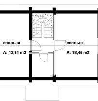 Дом из оцилиндрованного бревна ОБ-64