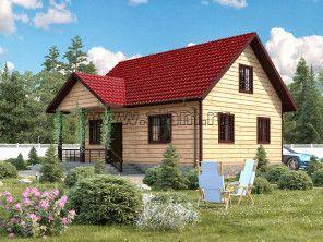 Дом из профилированного бруса ПБ-28