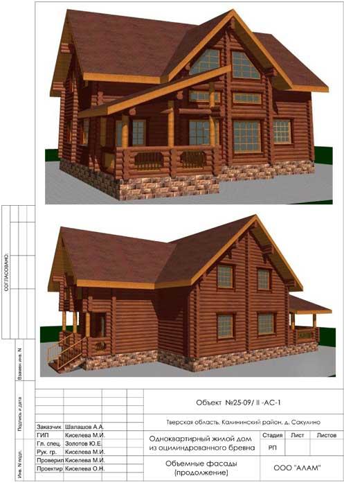 Объемные виды. Проектирование домов из дерева
