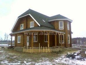 Дом из оцилиндрованного бревна ОБ-23
