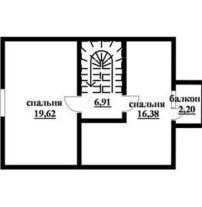 Дом из профилированного бруса ПБ-30