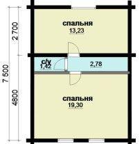 Дом из оцилиндрованного бревна ОБ-66