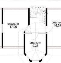 Дом из профилированного бруса ПБ-63
