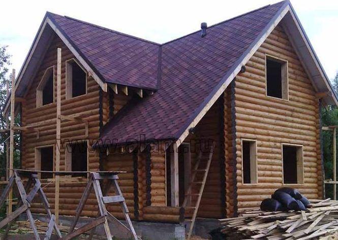 популярные дома из оцилиндрованного бревна