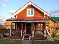 Дом из оцилиндрованного бревна ОБ-70