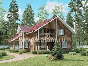 Дом из оцилиндрованного бревна ОБ-60