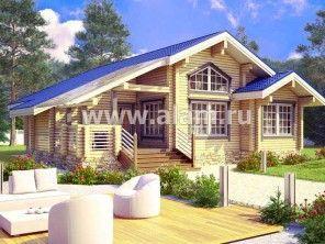 Деревянный одноэтажный дом ПБ-66
