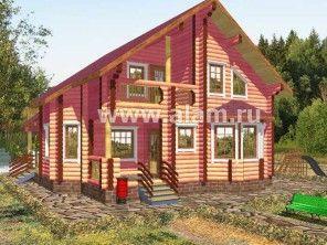 Дом из оцилиндрованного бревна ОБ-72