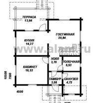 Дом из профилированного бруса ПБ-80