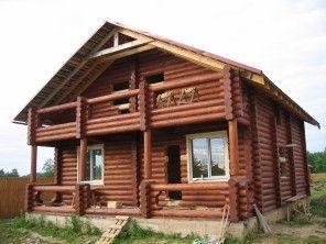 Дом из оцилиндрованного бревна ОБ-42