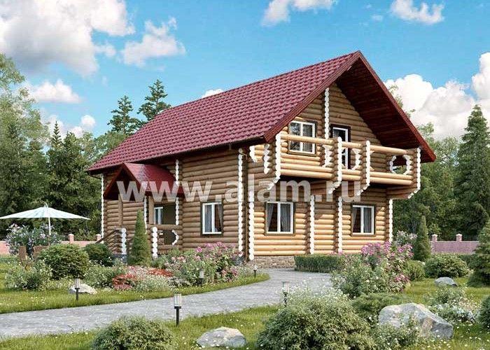 Дом из оцилиндрованного бревна ОБ-19