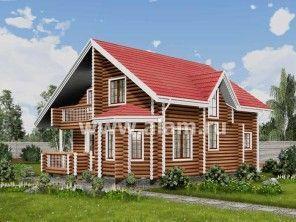 Дом из оцилиндрованного бревна ОБ-32