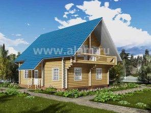 Дом из оцилиндрованного бревна ОБ-35
