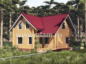 Дом из оцилиндрованного бревна ОБ-40