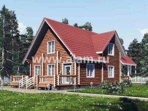 Дом из оцилиндрованного бревна ОБ-43