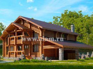 Дом из оцилиндрованного бревна  на две семьи -ОБ-52