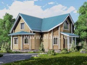 Красивый и уютный домик из бревна ОБ-61