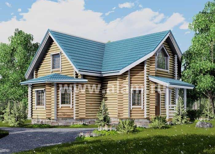 Дом из оцилиндрованного бревна ОБ-61