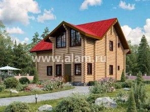 Дом из оцилиндрованного бревна ОБ-69