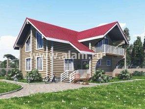 Т- образная планировка дома из бревна ОБ-50