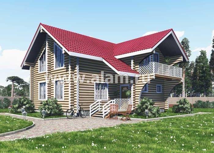 Дом из оцилиндрованного бревна ОБ-50