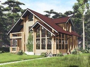 Дом из профилированного бруса ПБ-23