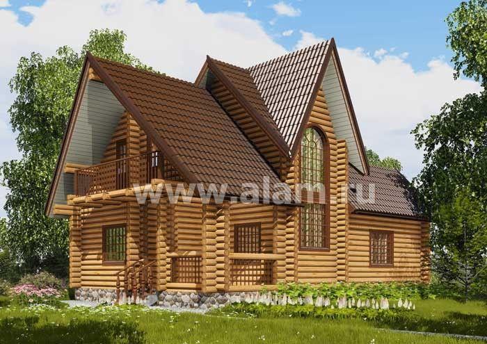 Дом из оцилиндрованного бревна ОБ-24